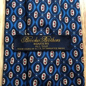 Brooks Brothers Classic Blue Silk Tie